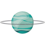 Uranus planet space image Stock Photos