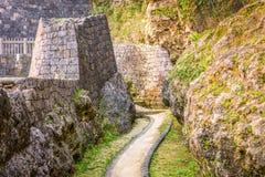 Urasoe Castle Ruins. Urasoe, Okinawa, Japan at Urasoe Castle Ruins. The site is part of the infamous Hacksaw Ridge Stock Photo