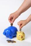 uratować pieniądze Zdjęcia Stock