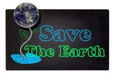 uratować ziemię Zdjęcie Royalty Free