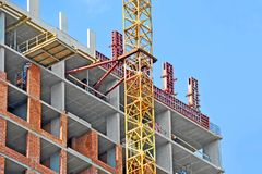 Żuraw i budowa Obraz Stock