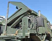 Żuraw pojazd wojskowy Zdjęcia Royalty Free