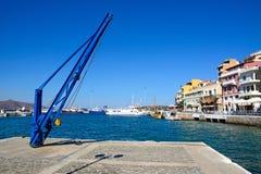 Żuraw w schronieniu, Agios Nikolaos Zdjęcie Royalty Free