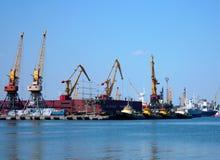 żurawi statków towboats Zdjęcia Stock