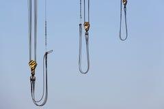 Żurawia drut z stalowym haczykiem fotografia stock