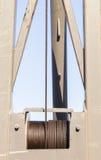 Żurawia Kablowy Stalowy bęben Zdjęcia Stock