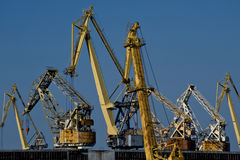 żurawia port Obrazy Royalty Free