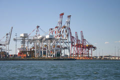 żurawia port Fotografia Royalty Free