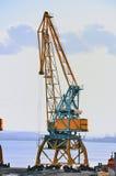 żurawia samotny port Obraz Royalty Free