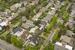 Urb. Aerial view of middle class middle density suburb Royalty Free Stock Photo