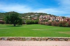 Urbaan landskap av Cannigione Royaltyfria Bilder