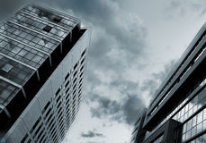 Urban. Abstract office buildings touch the sky Stock Photo