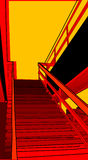 Urban 12. A cityscape image showing ascending stairs Royalty Free Stock Image