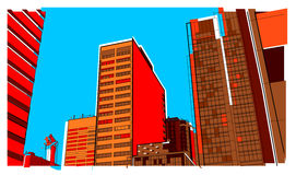 Urban 2. A cityscape image showing downtown life Stock Photography