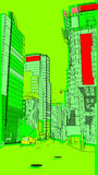 Urban 7. A cityscape image showing downtown life Royalty Free Stock Photography