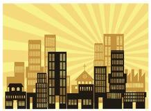 Urban. An illustration of urban view Stock Image