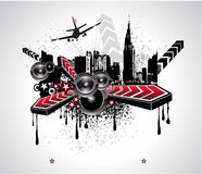 Urban Abstract Disco Music Background Stock Images