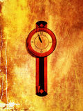 Urban Abstract Grunge Clock on Wall Texture Background Stock Image