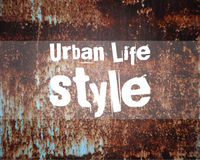 Urban abstract lifestyle poster and banner pattern Royalty Free Stock Photos