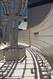 Urban Abstract 4. Light rail structure in city of Las Vegas to catch abstract landscape in modern city Stock Photography