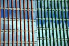 Urban abstract - windowed corner of office building royalty free stock photos