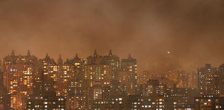 Urban air pollution Stock Images