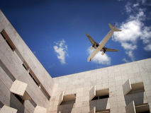 Urban airplanes Stock Photography