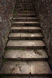 Urban ancient staircase of stone Royalty Free Stock Photos