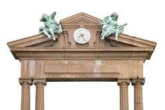 Urban Angels and Clock Royalty Free Stock Photo