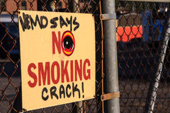 Urban Anti-Drug Message Royalty Free Stock Photography