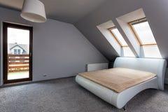 Urban apartment - bedroom Royalty Free Stock Photo