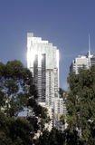 Urban Apartment Building. Sun Reflection, Clear Blue Sky, Sydney, Australia Royalty Free Stock Photo