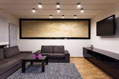 Urban apartment - comfortable living room Royalty Free Stock Images