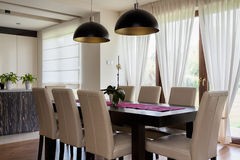 Urban apartment - dining room Royalty Free Stock Photos