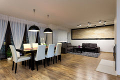 Urban apartment - Dining room Royalty Free Stock Image