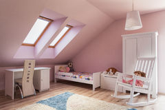 Urban apartment - kids room Stock Images