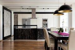 Free Urban Apartment - Kitchen With Table Royalty Free Stock Photos - 33077238