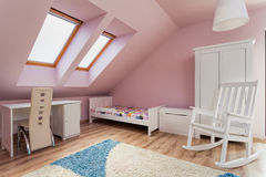Urban apartment - pink room Royalty Free Stock Image