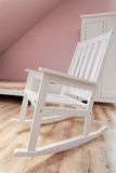 Urban apartment - rocking chair Royalty Free Stock Photo