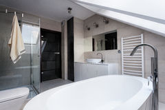 Urban apartment - stylish bathroom Stock Image