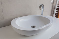 Urban apartment - vessel sink Stock Photo