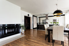 Free Urban Apartment - White And Black Interior Royalty Free Stock Image - 35897416