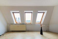 Urban apartment - white room Royalty Free Stock Image