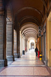Urban arcade in Bologna, Italy. Traditional urban arcade in Bologna, Italy Stock Photos