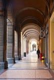 Urban arcade in Bologna, Italy Stock Photos