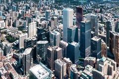 Urban architecture aerial view. Toronto urban architecture aerial view royalty free stock image