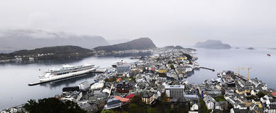 Urban Architecture_Alesund City Panorama, Norway Royalty Free Stock Images