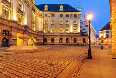 Urban architecture near the Wroclaw university in the evening. P Royalty Free Stock Photo