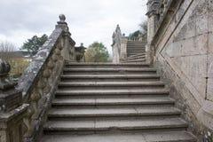 Urban architecture of Santiago de Compostela, Spain Royalty Free Stock Image