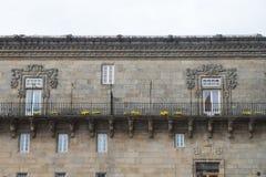 Urban architecture of Santiago de Compostela, Spain Royalty Free Stock Photo